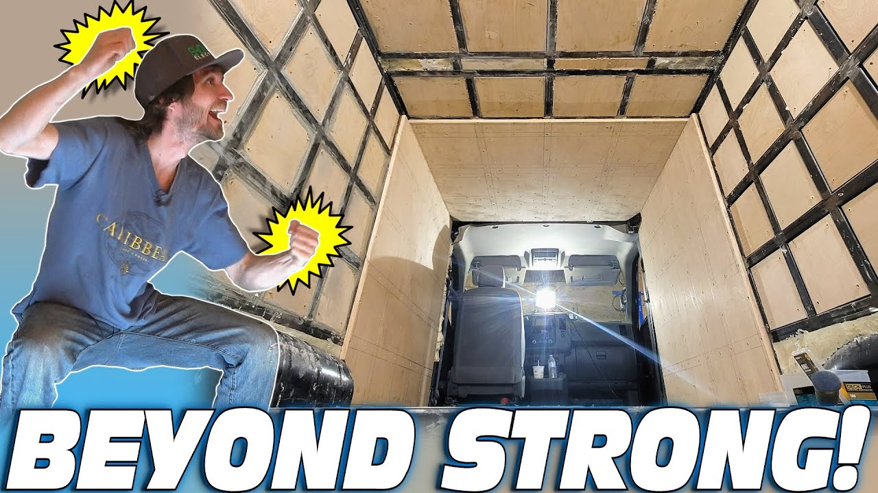 BEYOND STRONG Bass Van Build w/ EXO's BIGGEST Car Audio Install EVER... STEEL CAGE Subwoofer Box!!!