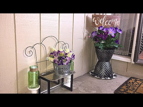 DIY DOLLAR TREE SPRING PORCH DECOR