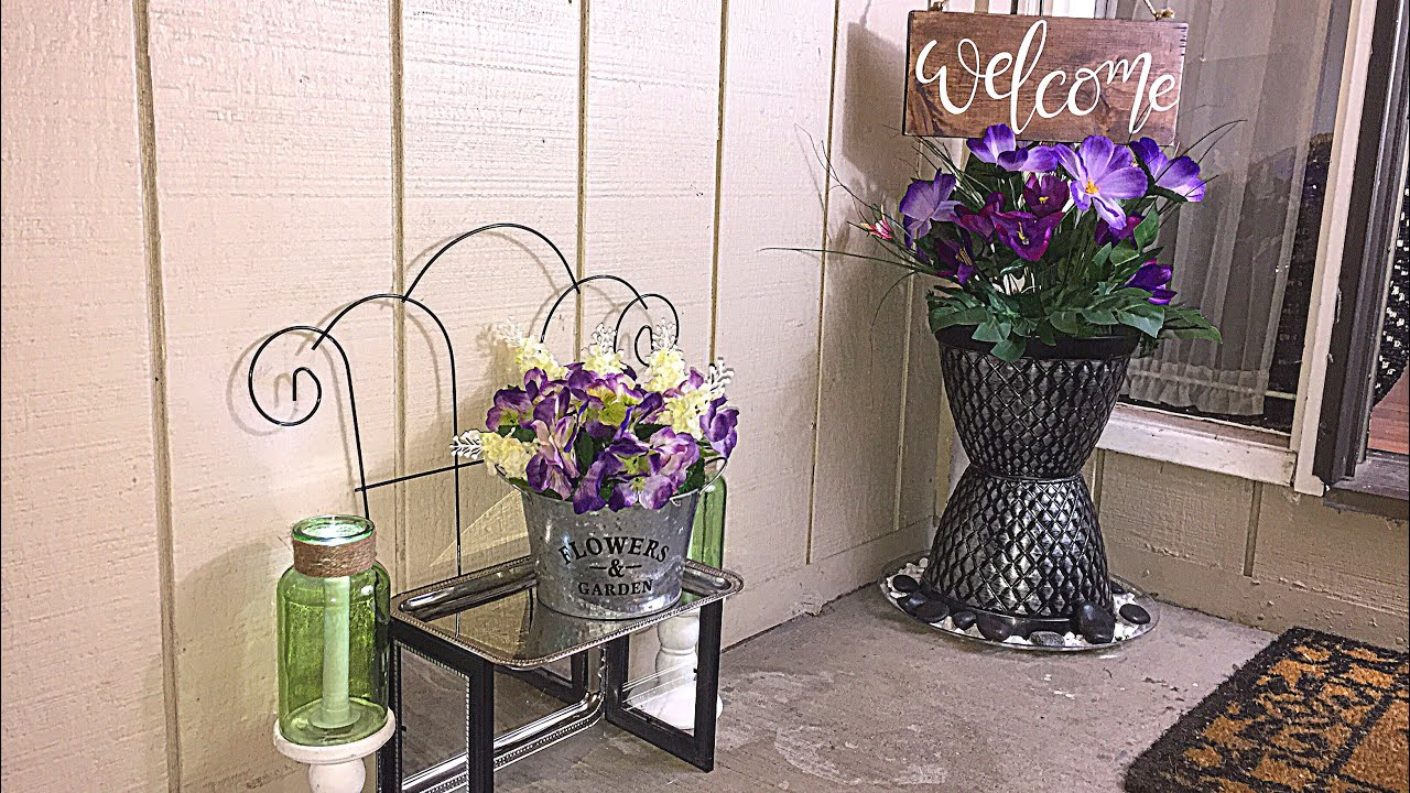 Diy dollar tree spring porch decor youtube diy dollar tree spring porch decor solutioingenieria Images