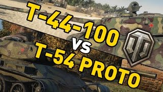 World of Tanks || T-44-100 vs T-54 First Proto