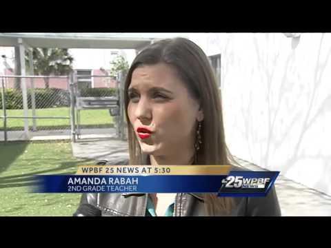 Cris visits Lantana Elementary School