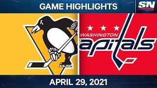 NHL Game Highlights   Capitals vs. Penguins - Apr. 29, 2021