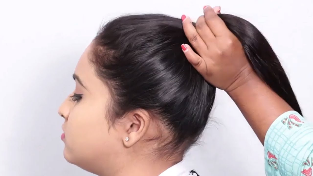 everyday use hairstyle for medium hair || easy hairstyles || hairstyles || simple bun hairstyles