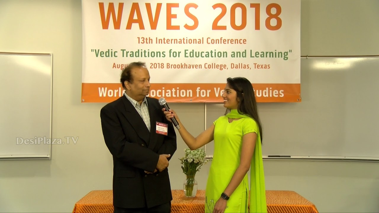 Media Byte / Interview with Dr. Narayanan Komerath at WAVES  Dallas, Texas - 2018.