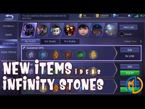 Mobile Legends : Ideas : New Items Build : Infinity Stones