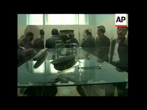Afghan museum exhibits looted artifacts seized at British ports