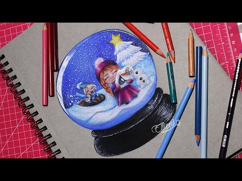 Drawing Frozen Snow Globe How To Draw Cute Chibi Anna