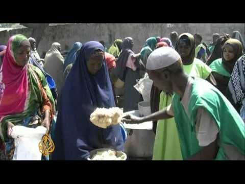 Somalia charity struggles to feed starving
