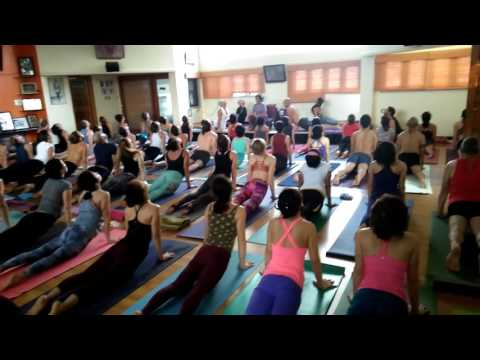 Saraswati led class - primary series - 12/04/2016 - Mysore - India - part 1