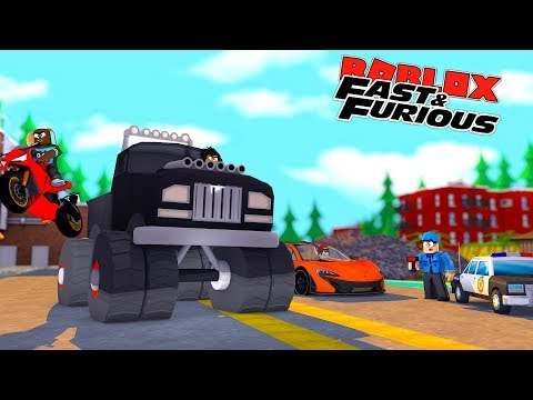 ROBLOX FAST AND THE FURIOUS - ILLEGAL STREET RACING AND CAUGHT SPEEDING DOING 300 MPH BY THE POLICE