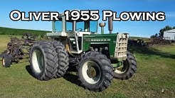 Oliver 1955 FWA tractor plowing with Oliver 448 plow.