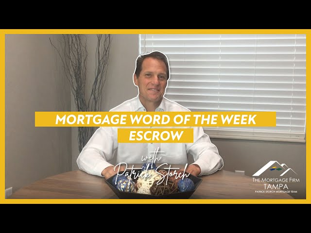 MORTGAGE WORD OF THE WEEK 📚 Escrow