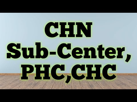 Community Health Nursing Sub center, PHC,CHC