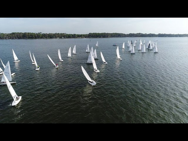 2019 MC Midwinters – Race 4 Start from the Melges Drone