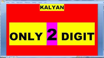 Satta 2 Digit Kalyan Loss Cover Raising Play Trick By Great Teacher S.M