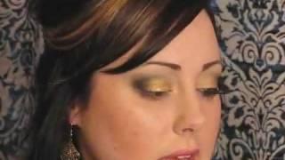 видео Макияж из черно золотых теней