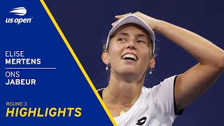 Elise Mertens vs Ons Jabeur Highlights | 2021 US Open Round 3