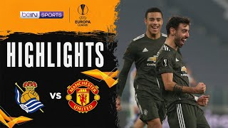 Real Sociedad 0-4 Manchester United | Europa League 20/21 Match Highlights