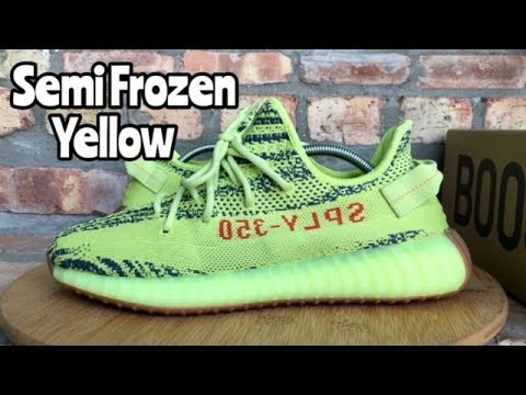 51a754b3d The highest version 350 V2 semi frozen yellow 150  by jeff yeezy by ...