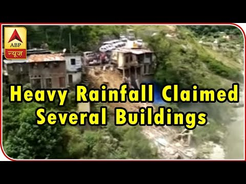 When Landslide And Heavy Rainfall Claimed Several Buildings In A Minute | ABP News