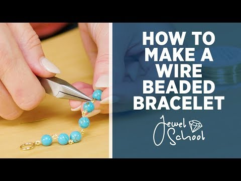 how-to-make-a-wire-beaded-bracelet-|-jewelry-101