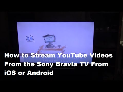 how to get youtube on bravia sony
