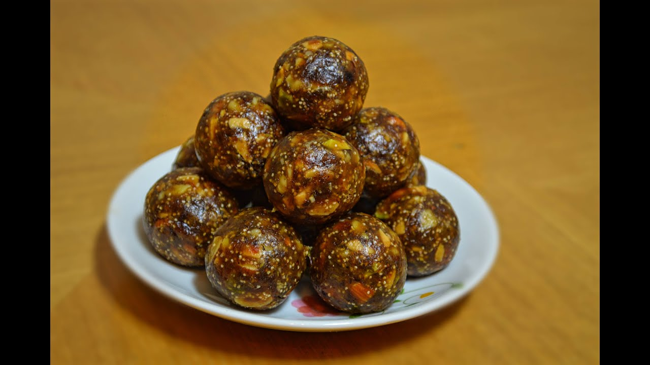 Dates and Nuts Ladoo - Indian Healthy Snacks
