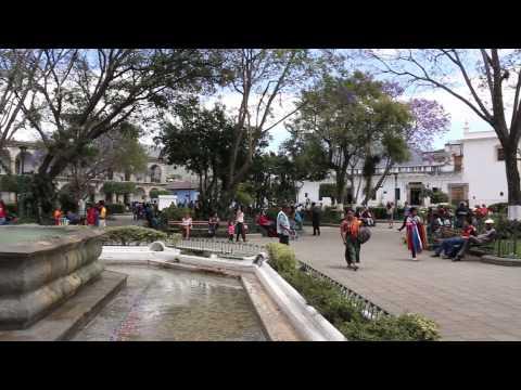 Parque Central in Antigua, Guatemala
