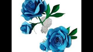 Как сделать розу с бутоном из цветной бумаги. Идеи для подарков