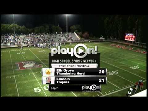 Football Elk Grove Vs Lincoln Youtube