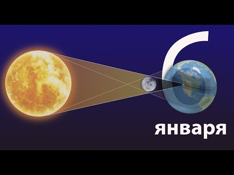 Частное солнечное затмение 6 января 2019 (едем в Магадан?)