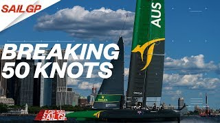 Did the Australian SailGP team break the 50 knot barrier?