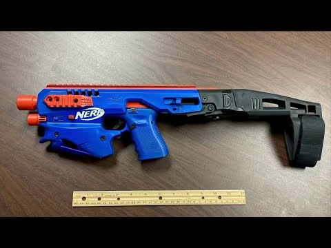 Real Gun Disguised as Nerf Toy