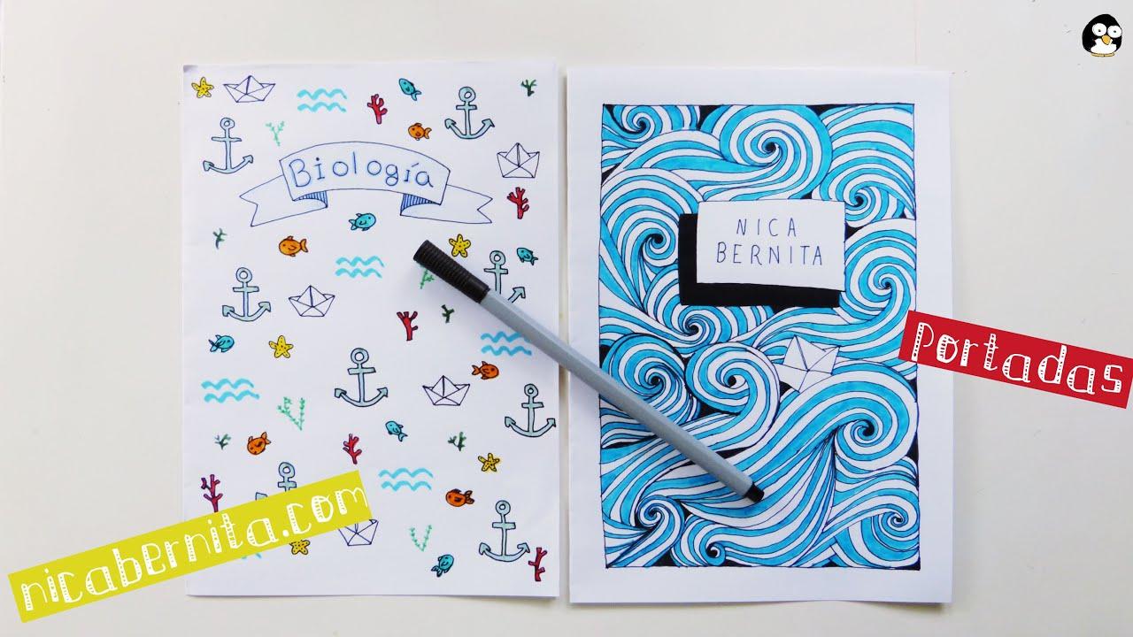 Dibujos Para Portadas De Cuaderno: Ideas De PORTADAS Para CUADERNOS. DECORAR LIBRETAS Con