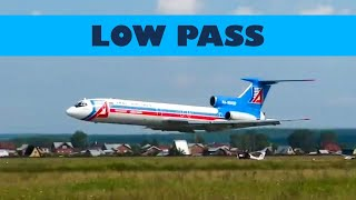 Сумасшедший пролет Ту-154 и Ил-86 (очень низко)