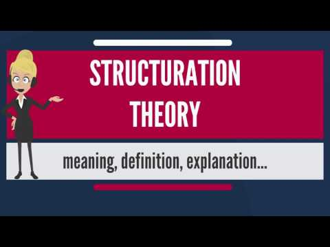 What is STRUCTURATION THEORY? What does STRUCTURATION THEORY mean? STRUCTURATION THEORY meaning