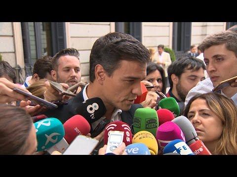 """Sánchez (PSOE) coincide con el rey en """"transformar el país"""""""