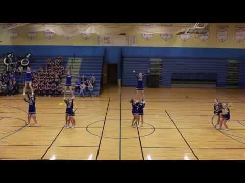 Ida High School Sideline Cheer: Pep Rally 2014