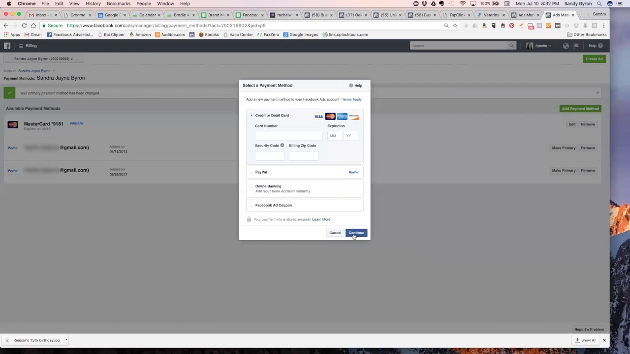 How To Add A Credit Card To Facebook Manage Ad Account Youtube