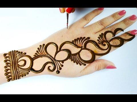 Easy Beautiful Mehndi Design | अरेबिक मेहँदी डिज़ाइन लगाना सीखे | Stylish Arabic Henna Design