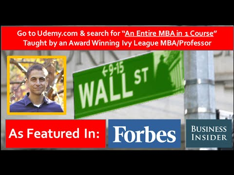 🎓💲💼An Entire MBA in 1 Course By An Award Winning Ivy League MBA/Business  School Professor