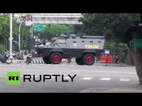Indonesia: Armed police deploy after explosions, gunfire rock Jakarta