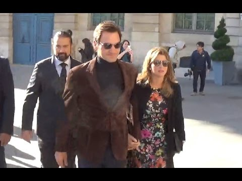Roger FEDERER @ Paris Fashion Week 5 october 2016 show Vuitton #PFW