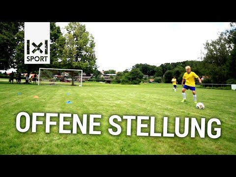 Fussballubung Zur Offenen Stellung E Und D Jugend Youtube