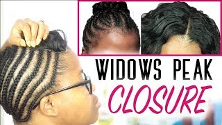 Lace Closure Sew In on a Widows Peak - Start to Finish ft Wiggins Hair