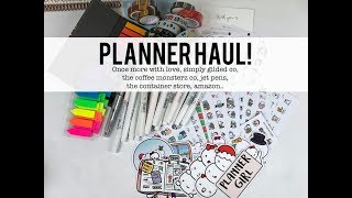 Planner Haul// Die cuts, Washi, Stickers, Midliners, Page flags
