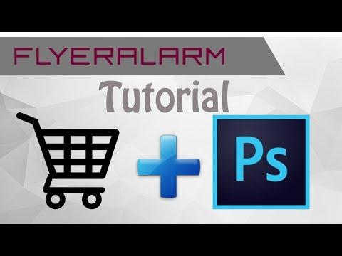Flyeralarm Order Photoshop Tutorial Deu Youtube