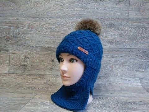 Детская шапка-шлем с узором