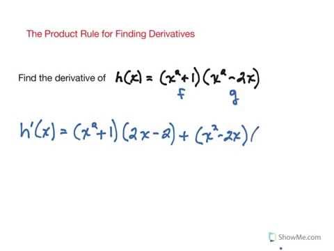 Product Rule for Finding Derivatives
