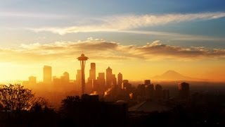 Seattle Sunrise Sunset in Sixty Seconds